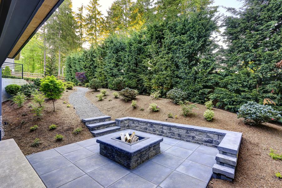 a nice looking backyard